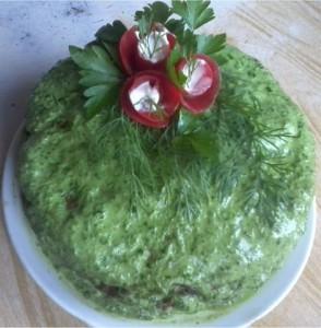 Печеночный торт со шпинатом рецепт Юлии Солнышко