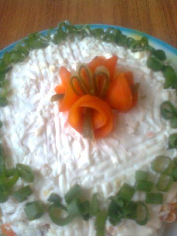 Салат весенняя нежность рецепт Нины Столбовой