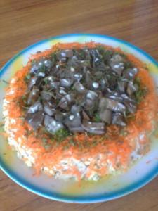Салат грибная корзинка рецепт Нины Столбовой