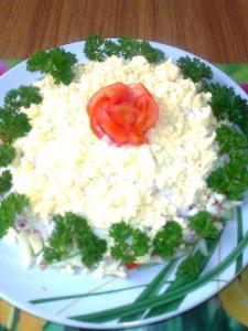 Салат золотая роза. Рецепт Нины Столбовой