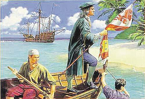 Колумб Америку открыл...