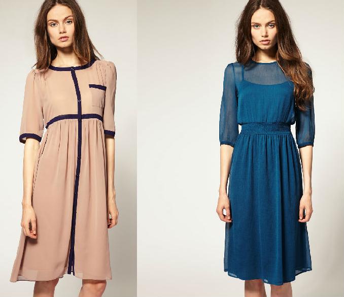 Фото фасоны платьев средней длины